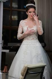 princess wedding dress tulle illusion chapel ivory sleeve princess wedding