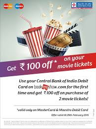 bookmyshow offer central bank of india bookmyshow