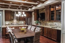 Creating A Nice Kitchen Style By Applying Stacked Stone Backsplash - Layered stone backsplash
