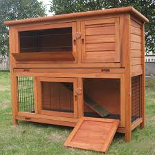 Rabbit Hutch Plastic Double Rabbit Hutch Pet Supplies Ebay