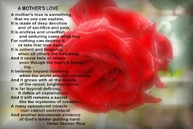 inspirational thanksgiving poem happy mother u0027s day poem u0027a mother u0027s love u0027 by helen steiner rice