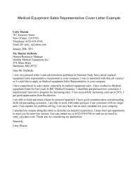 application letter for supervisor position sample medical equipment sales representative cover letter example cover