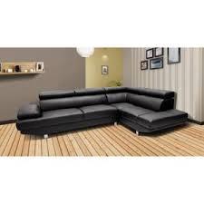 canape d angle noir topdeco canapé d angle droit héléna avec têtières inclinables noir