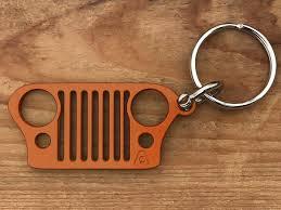 jeep cj grill logo jeep grill keychains stainless steel wrangler cherokee keychains