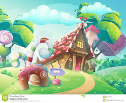 vector cartoon illustration sweet candy house stock vector image