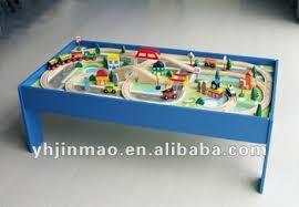 table top train set 2015 newest 80pcs wooden train set with table funny train set top