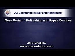 Corian Countertop Refinishing Mesa Corian Countertop Repair And Refinishing Youtube