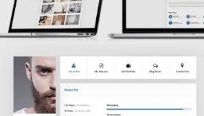 Website Resume Examples by Cv Website Template Free