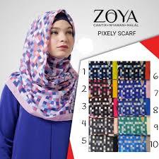 jilbab zoya kerudung pixely scarf zoya model jilbab zoya terbaru kerudung