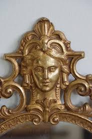 antiker spiegel gold antiker ovaler spiegel mit messingrahmen bei pamono kaufen