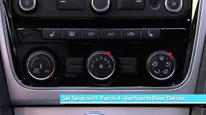 volkswagen climatronic climate control features youtube