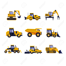 construction equipment road roller excavator bulldozer and