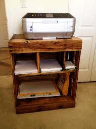 Cabinet For Printer Pallet Printer Stand My Husband Made Pallet Desks Pinterest