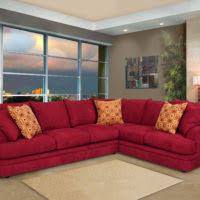 Orange Sleeper Sofa Furniture L Shaped Orange Sleeper Sofa With Curved Chaise And