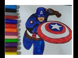 captain america coloring book colouring pages kids movie learn