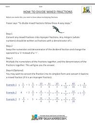 dividing mixed fractions