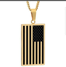 American Flag 1845 American Flag Necklace U2013 Country Obsessions