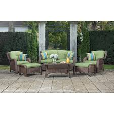 Patio Chairs With Cushions Amazon Com La Z Boy Outdoor Sawyer 6 Piece Resin Wicker Patio