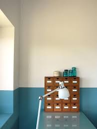 half painted walls in bold colors design trends decorate