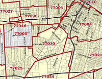 houston map with zip codes the new home of houston s map top ten swlot