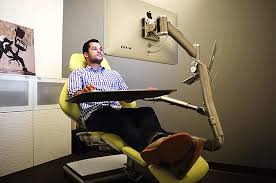 all in one desk and chair this is the office chair of the future and it looks crazy desks