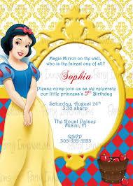snow white birthday invitations snow white birthday invitations