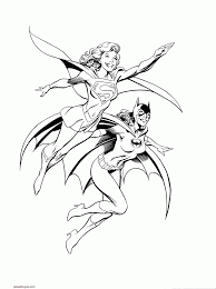 coloring coloring pages draw supergirl coloring