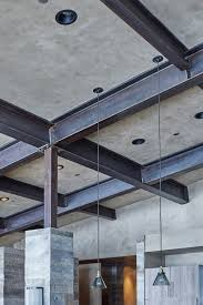 Concrete Ceiling Pin One Large Metal Beams That Have Been Put In Place For The
