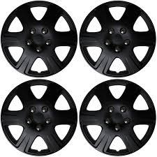 2009 hyundai elantra hubcaps 4 pc set 15 inch black matte hub caps cover for oem steel wheel