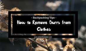 remove clothes how to remove burrs from clothes ardent footsteps