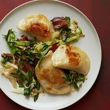 pierogies with sautéed cabbage and bacon recipe
