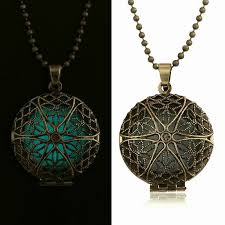 photo locket pendant necklace images Antique bronze glow in the dark pendant necklace shop prana jpg