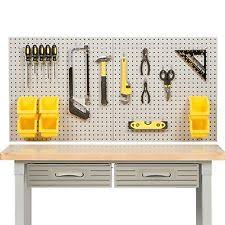 pegboard storage containers steel pegboard ebay