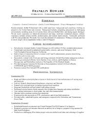 resume construction experience commercial carpenter resume sample career accomplishments