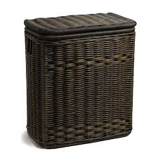 amazon com the basket lady narrow wicker rectangular laundry