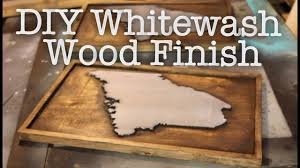 How To Whitewash Wood Walls by Diy Whitewash Wood Finish How To Whitewash Youtube