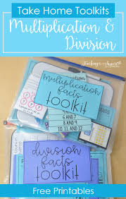 multiplication and division practice free math facts take home