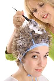 frosting hair stylist frosting clients hair stock photo image 3770786