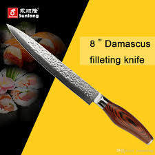 kitchen knives review sunlong 8inch high quality filleting knives vg10 damascus steel