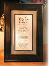 remembrance picture frame the broken chain poem memorial frame