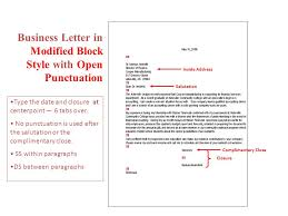 best solutions of modified block letter format closed punctuation