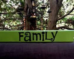 Word Blocks Home Decor Family Block Letters Etsy