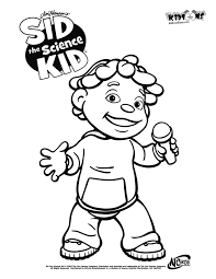 Sid The Science Kid Coloring Pages sid the science kid coloring pages to and print for free printable