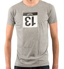 themed t shirts allez offers lucky t shirt with flipped 13 race number bicycle