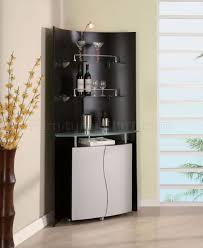 Black Bar Cabinet Half Round Shape Bar Cabinet With Glass Shelves