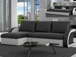 canapé d angle noir simili cuir canapé d angle convertible et réversible en simili corneille
