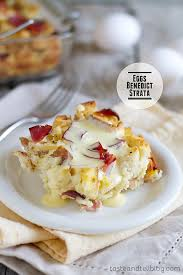 egg strata casserole eggs benedict strata taste and tell