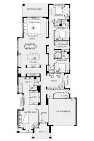 floor plan long narrow house homes zone