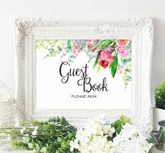 guest book sign in printable wedding reception seating signage guest book cards and