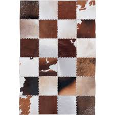 Patchwork Area Rug Brown Multi Color Cowhide Patchwork Area Rug Carpets In Rug From